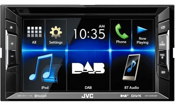 JVC KW-V235DBTE  BLUETOOTH / HANDSFREE / ANDROID OG iPHONE STØTTE / DVD / DAB+