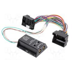 Høy -> lavnivå adapter (2 kanals) med Quadlock plugg