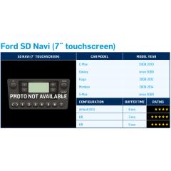 """DAB + adapter Ford S-Max 2009-> med 7"""" navi og touch (Ferdig programmert Dension DAB+U)"""