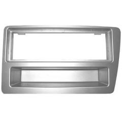 Radio mounting panel panel Cars with automatic air conditioning (Silver)