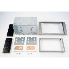 Monteringsramme 2-DIN Ford Focus/C-MAX/Fiesta ++ Sølv
