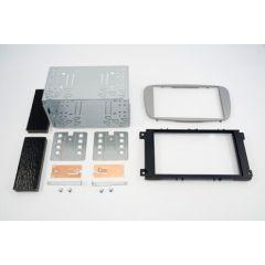 Monteringsramme 2-DIN Ford - Sølv