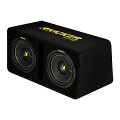 """Kicker - Dual CompC 2x10"""" basskasse (1x2 ohm)"""
