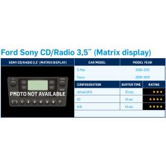 "DAB + adapter Ford C-Max 2008 - 2012 med Sony radio og 3,5"" og mono display (Ferdig programmert Dension DAB+U)"