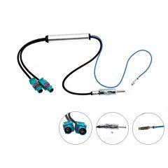Antenneadapter 2 x fakra til DIN