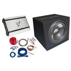 """ESX Audio - Basspakke 1x12"""" HXP4 med 4 kanals forsterker"""