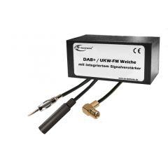 DAB splitter til aktiv/passiv FM antenne