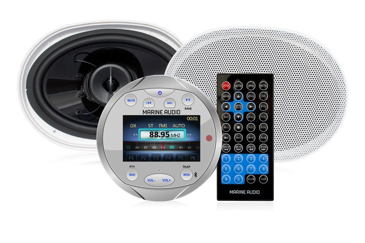 Marine pakke m/DAB+ radio og 6x9